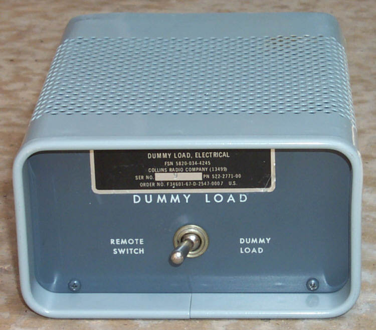 Front of Military DL-1 Dummy Load